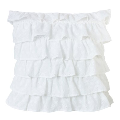 Zabarskaya Tiered Ruffled Eyelet Throw Pillow