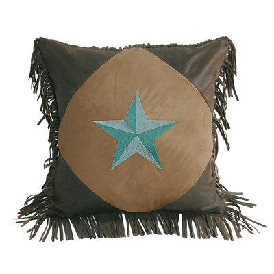 Kennison Diamond Star Throw Pillow Color: Turquoise