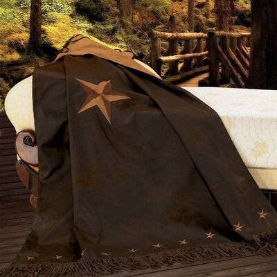 Kennison Star Throw Color: Chocolate
