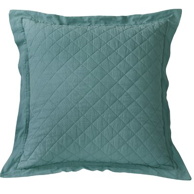 Barrier Diamond Pattern Linen Quilted Euro Sham