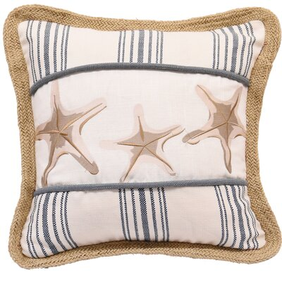 Malabar Starfish Cotton Throw Pillow