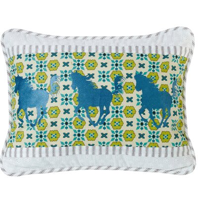 Koah Horse Embroidery Lumbar Pillow