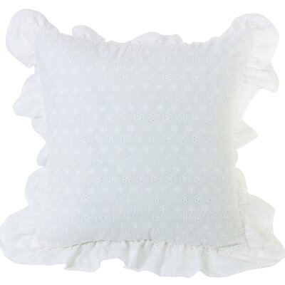 Barrier Ruffled Flange Eyelet Throw Pillow