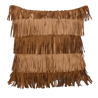 Odonnell Alternating Fringe Throw Pillow