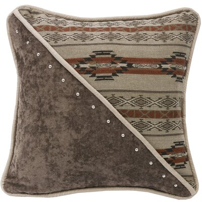 Larsen Half Fabric and Half Print Throw Pillow