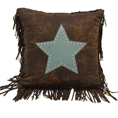 Cooley Faux Leather Throw Pillow Color: Turquoise