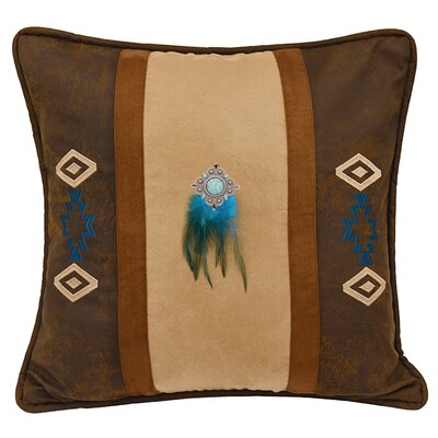 Glenn Southwest Embroidered Faux Suede Throw Pillow