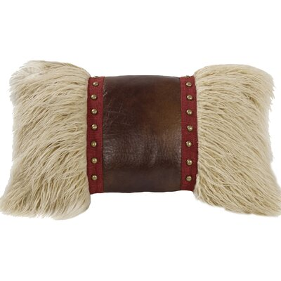 Lopez Faux Leather Lumbar Pillow