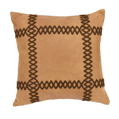 Odonnell Faux Leather Throw Pillow