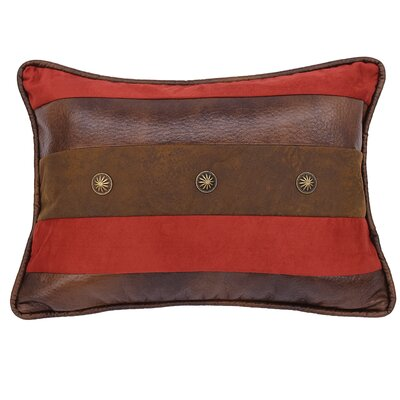Glenn Faux Leather Lumbar Pillow