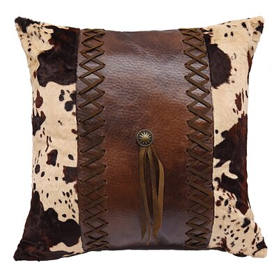 Cooley Faux Leather Throw Pillow