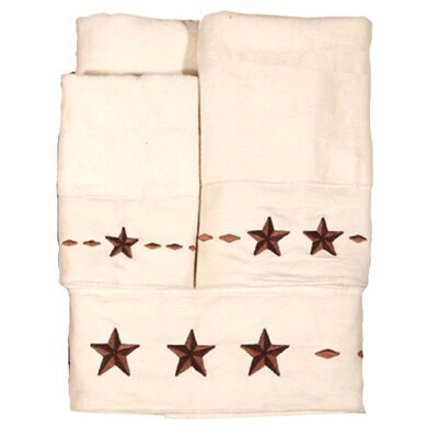 Embroidered Star Towel Set (Set of 3)