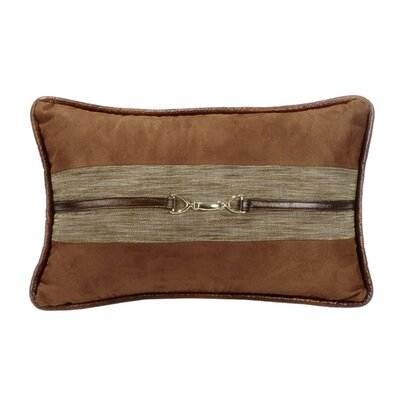 Bryant Suede Lumbar Pillow with Buckle Detail