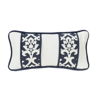 Jacobus Oblong Lumbar Pillow with Jacquard Panels and Piping Detail