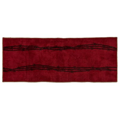 Indian Wells Barbwire Bath Rug Color: Red