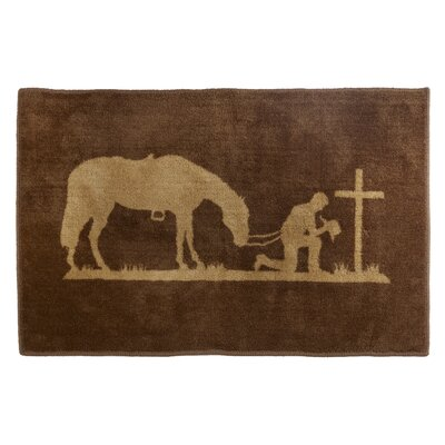 Havza Praying Cowboy Bath Rug