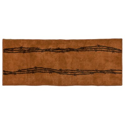 Indian Wells Barbwire Bath Rug Color: Chocolate