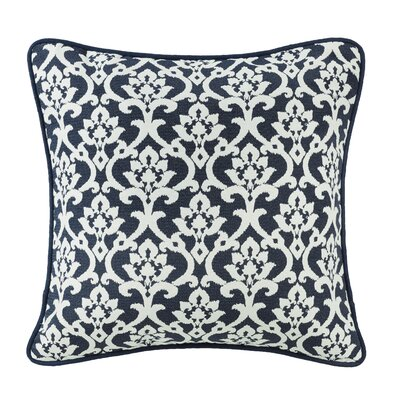 Jacobus Floral Jaquard Euro Pillow with Piping Detail