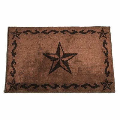 Cahto Star Print Bath Rug Color: Chocolate