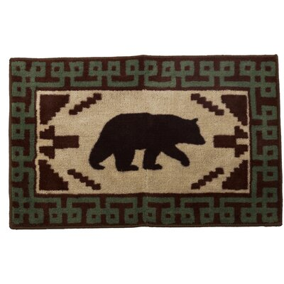 Rialto Bear with Border Bath Rug