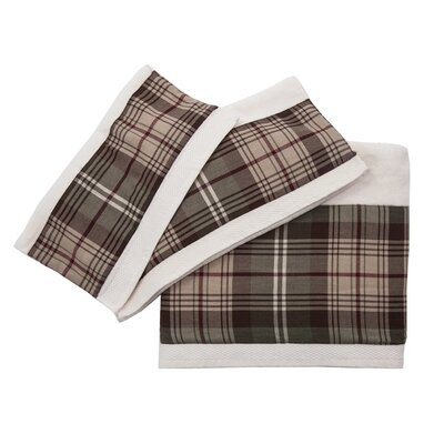 Plaid 3 Piece Towel Set Color: Cream