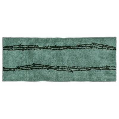 Indian Wells Barbwire Bath Rug Color: Turquoise