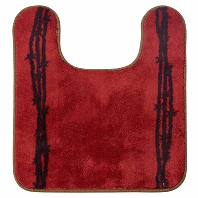 Richmond U Shaped Barbwire Contour Bath Rug Color: Red
