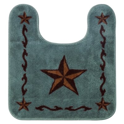 Erick Contour Star Bath Rug Color: Turquoise