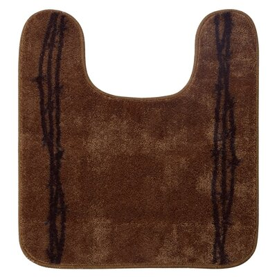 Richmond U Shaped Barbwire Contour Bath Rug Color: Chocolate