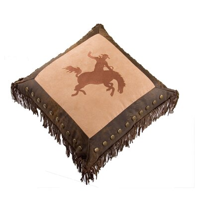 Landyn Embroidery Bronco Throw Pillow