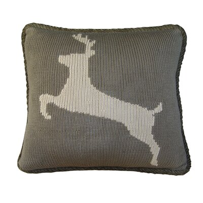 Lynnhaven Deer Knitted Throw Pillow