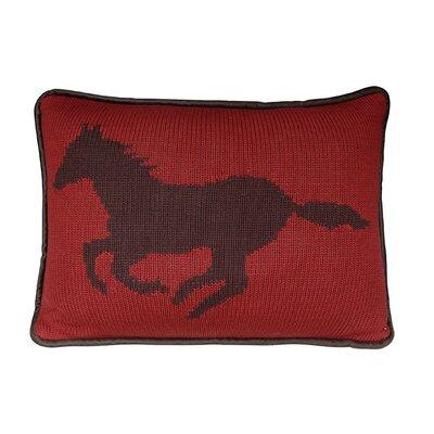 Horse Knitted Lumbar Pillow