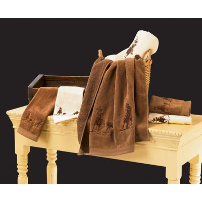 Phelps Embroidered Roper 3 Piece Towel Set Color: Mocha