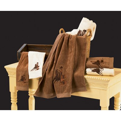 3 Piece Towel Set Color: Brown