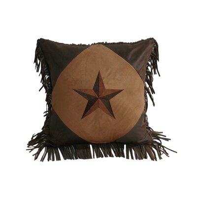 Kennison Diamond Star Throw Pillow Color: Tan