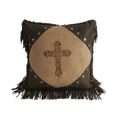 Crosses Diamond Suede Throw Pillow