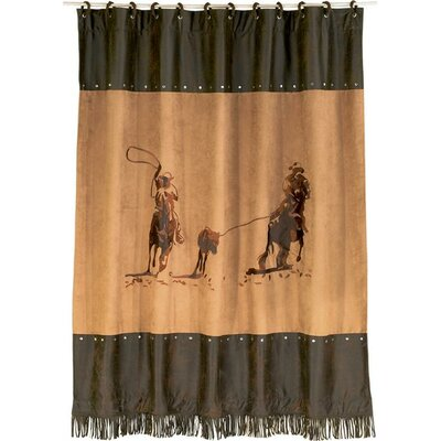 Mateo Faux Suede Shower Curtain