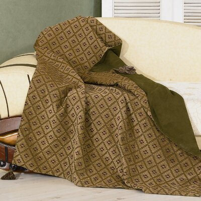 Pine Reversible Chenille Throw Blanket
