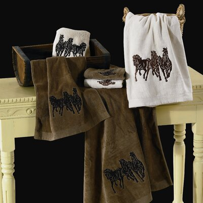 Horse 3 Piece Towel Set Color: Brown