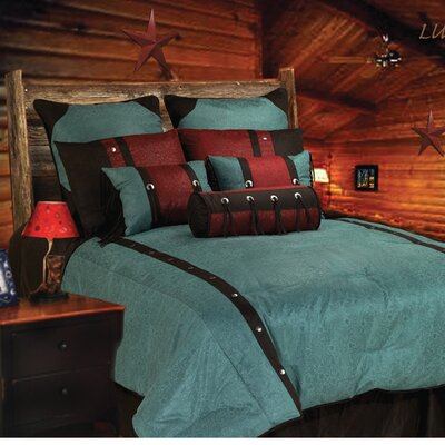 HiEnd Accents Cheyenne Comforter Set - Size: Queen, Color: Turquoise at Sears.com