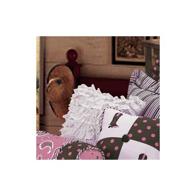Paisley Pillow with Eyelets in Pink