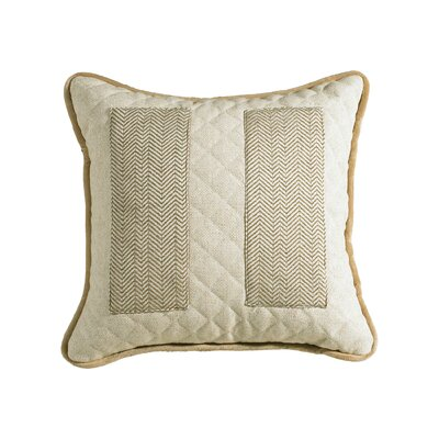 Dyann Quilted Linen Throw Pillow