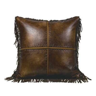 Thurlos Square Faux Leather Throw Pillow