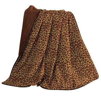 Thurlos Leopard Faux Leather Throw