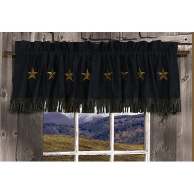 "HiEnd Accents Laredo 84"" Curtain Valance - Color: Black at Sears.com"