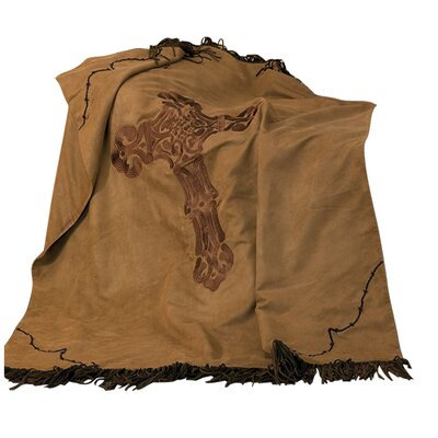 Aurthur Barbwire Faux Suede Throw