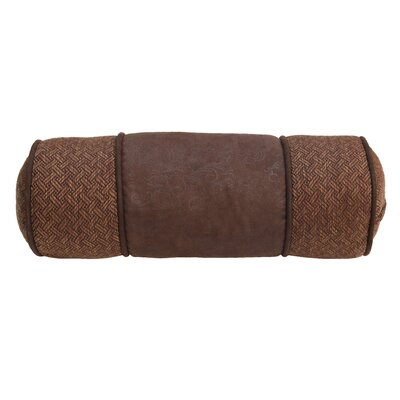 Alfonso Faux Leather Bolster Pillow
