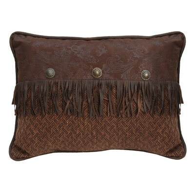 Del Rio Faux Leather Lumbar Pillow