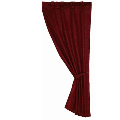 HiEnd Accents Cheyenne Tooled Leather Rod Pocket Curtain Panel - Color: Red