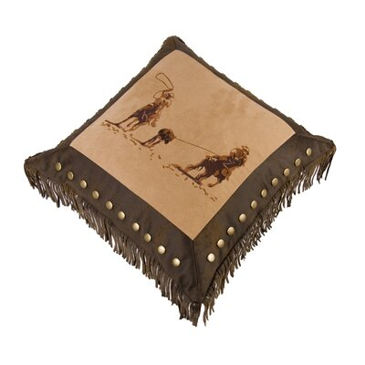 Mateo Faux Leather Throw Pillow